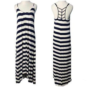 Cynthia Rowley Maxi Dress Size S Small Blue White